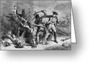 1750s Greeting Cards - Battle Of Fort William Henry, 1757 Greeting Card by Photo Researchers