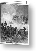 Germantown Photo Greeting Cards - Battle Of Germantown, 1777 Greeting Card by Granger