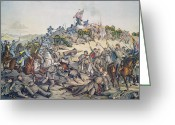 Mound Painting Greeting Cards - Battle of Nashville December 15-16th 1864 Greeting Card by American School