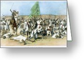 Flag Drawings Greeting Cards - Battle Of Omdurman 1898 Greeting Card by Granger