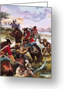 Muskets Greeting Cards - Battle of Sedgemoor Greeting Card by Andrew Howart
