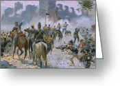 Bataille Greeting Cards - Battle of Solferino and San Martino Greeting Card by Italian School