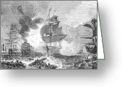 Lord Admiral Nelson Greeting Cards - Battle Of The Nile, 1798 Greeting Card by Granger