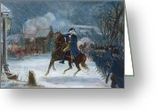 Rebellion Greeting Cards - Battle Of Trenton, 1776 Greeting Card by Granger