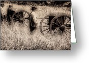 Cannons Greeting Cards - Battle Ready - Gettysburg Greeting Card by Bill Cannon