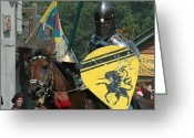 Knight In Shining Armour Greeting Cards - Battle Scars Greeting Card by Paul Ward