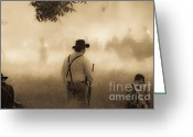 Muskets Greeting Cards - Battlefield Greeting Card by Kim Henderson