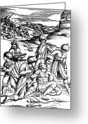 Featured Greeting Cards - Battlefield Medicine, 16th Century Greeting Card by Science Source