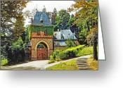 Kodachrome Greeting Cards - Bavarian Villa Greeting Card by Chuck Staley