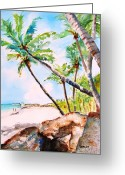 Carlin Greeting Cards - Bavaro Beach Greeting Card by Carlin Blahnik