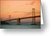 San Francisco Bay Greeting Cards - Bay Bridge Greeting Card by Mandy Wiltse