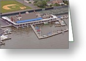 Flights Greeting Cards - Bay Head Yacht Club Greeting Card by Duncan Pearson