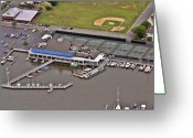 Flights Greeting Cards - Bay Head Yacht Club II Greeting Card by Duncan Pearson