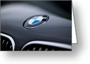 Bmw Emblem Greeting Cards - Bayerische Motoren Werke Greeting Card by Mike Reid