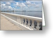Puffy Greeting Cards - Bayshore Boulevard Balustrade Greeting Card by Carol Groenen