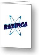 Tv Show Greeting Cards - Bazinga - Big Bang Theory Greeting Card by Bleed Art
