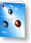 Confidence Greeting Cards - Be Different Greeting Card by Cheryl Young