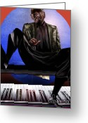 Ray Charles Greeting Cards - Be Good To Ya - Ray Charles Greeting Card by Reggie Duffie