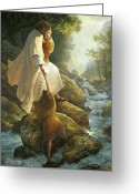 Woods Painting Greeting Cards - Be Not Afraid Greeting Card by Greg Olsen