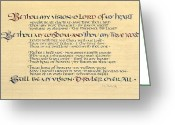 Elements Greeting Cards - Be Thou My Vision Greeting Card by Judy Dodds