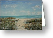 South Carolina Beach Painting Greeting Cards - Beach Access Greeting Card by Stanton D Allaben