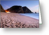Ethereal Water Greeting Cards - Beach at evening Greeting Card by Carlos Caetano