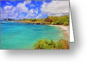 Mango Greeting Cards - Beach at Hana Maui Greeting Card by Dominic Piperata