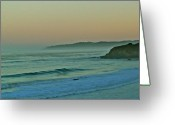San Simeon Greeting Cards - Beach at San Simeon Greeting Card by Liz Vernand