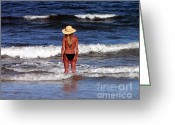 Al Powell Photography Greeting Cards - Beach Blonde - Digital Art Greeting Card by Al Powell Photography USA