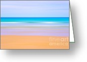 Golden Sand Greeting Cards - Beach blur Greeting Card by Richard Thomas