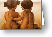 Beach Pastels Greeting Cards - Beach Buddies Greeting Card by Curtis James