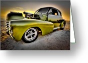 Custom Chev Greeting Cards - Beach Buggy Greeting Card by Jerry Golab