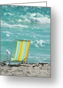 Ete Greeting Cards - Beach Chair Dreams Greeting Card by AdSpice Studios
