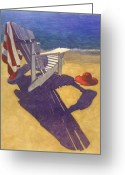Beach Pastels Greeting Cards - Beach Chair Greeting Card by Robert Casilla
