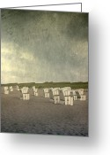 Plenty Greeting Cards - Beach Chairs Greeting Card by Joana Kruse