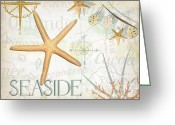 Compass Greeting Cards - Beach Collage C Greeting Card by Grace Pullen