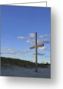 Terry Deluco Greeting Cards - Beach Cross Greeting Card by Terry DeLuco