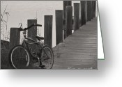 Old Bike Greeting Cards - Beach Cruiser Greeting Card by Robert Meanor