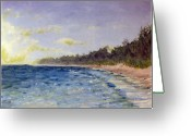 Landscapes Greeting Cards - Beach Daydream Greeting Card by Kenneth McGarity