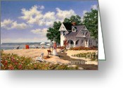 Suits Greeting Cards - Beach Days Greeting Card by Michael Swanson