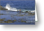 Rabat Greeting Cards - Beach Fishing Greeting Card by Mike Mann