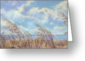 Donna Shortt Greeting Cards - Beach Grasses Greeting Card by Donna Shortt