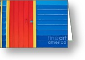 Melbourne Beach Greeting Cards - Beach House - Red door Greeting Card by Hideaki Sakurai