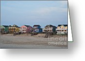 Carolina Greeting Cards - Beach House Greeting Card by John Greim