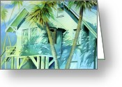 Julianne Felton Greeting Cards - Beach House Greeting Card by Julianne Felton