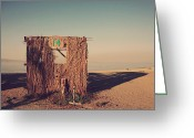 Numbers Photo Greeting Cards - Beach Hut Number Fourteen Greeting Card by Laurie Search