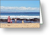 Benjamin Matthijs Greeting Cards - Beach Live Greeting Card by Benjamin Matthijs