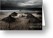 Umbrella Greeting Cards - Beach Minstrel Greeting Card by Carlos Caetano