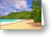 Mango Greeting Cards - Beach Near Hanalei Kauai Greeting Card by Dominic Piperata