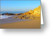 Golden Sand Greeting Cards - Beach of Los Cabos Greeting Card by Karon Melillo DeVega